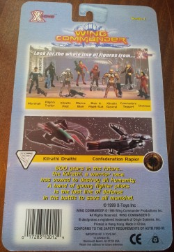 Wing Commander Action Figure - Box Back