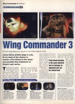 Wing Commander 3 Review - PC Format Page 1