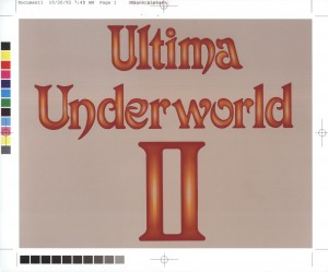 Ultima Underworld 2 - Logo Proof Version 1