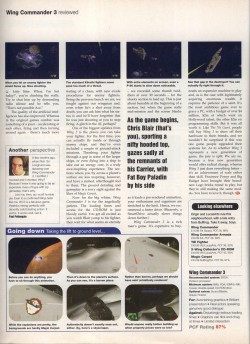 Wing Commander 3 Review - PC Format Page 3