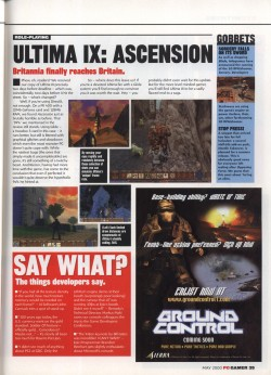 PC Gamer Ultima 9 Review Update