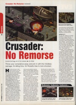 Crusader No Remorse Review - PC Format Page 1