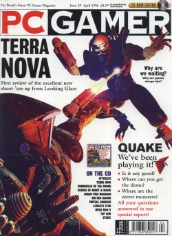 PC Gamer - Terra Nova Cover