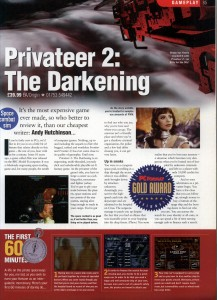 PC Format Privateer 2 Review - Page 1