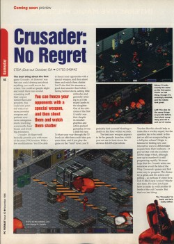 Crusader No Regret Preview - PC Format