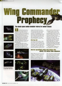 Wing Commander Prophecy Preview - Ultimate PC Page 1