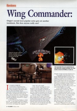 Wing Commander Prophecy Review - PC Gamer (Page 1)