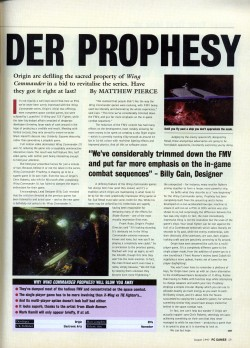 PC Gamer Wing Commander Prophecy Preview - Page 2