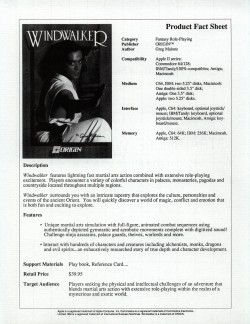 Windwalker Press Release Back