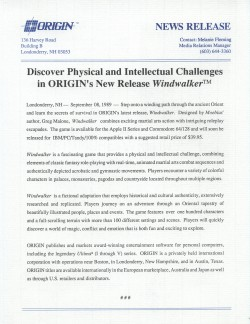 Windwalker Press Release Front